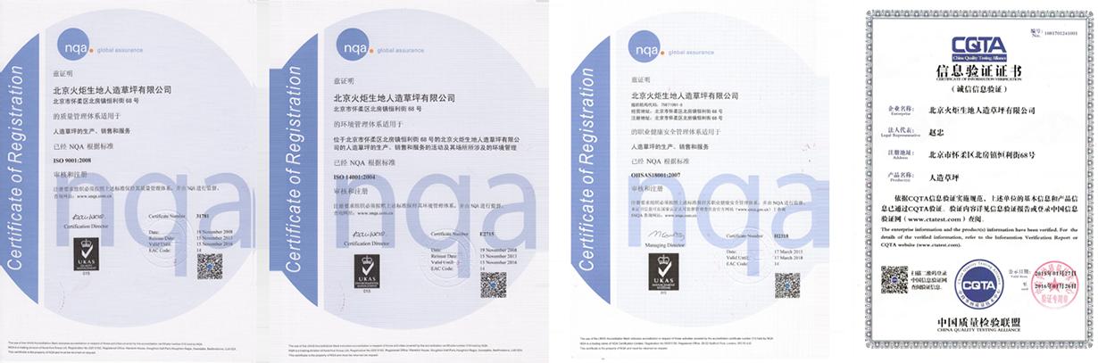 Institution Certificates